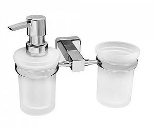 Стакан и дозатор жидкого мыла навесной WasserKRAFT LIPPE K-6589