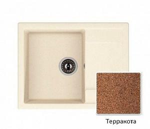 Мойка кухонная из литьевого мрамора Dr. Gans ТЕХНО 25.030.C0650.406 65*51 см.