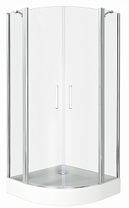 Душевой уголок BAS PANDORA R ПД00009 100x100 см.
