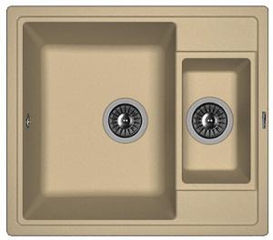 Мойка кухонная керамогранитная Florentina ЛИПСИ 580К 20.210.D0580.306
