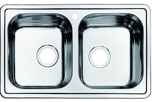 Мойка кухонная из нержавеющей стали IDDIS STRIT STR78S2i77 78*48 см.