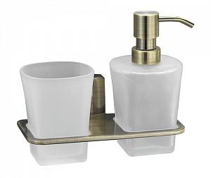 Стакан и дозатор жидкого мыла навесной WasserKRAFT EXTER K-5289