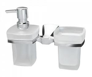 Стакан и дозатор жидкого мыла навесной WasserKRAFT WERN K-2589