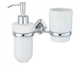 Стакан и дозатор жидкого мыла навесной WasserKRAFT ALLER K-1189C