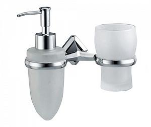 Стакан и дозатор жидкого мыла навесной WasserKRAFT ALLER K-1189