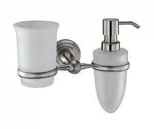 Стакан и дозатор жидкого мыла навесной WasserKRAFT AMMER K-7089